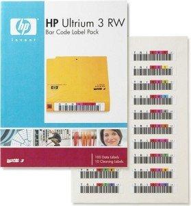 HP LTO-Ultrium 3 Bar Code Label Pack (Q2007A)