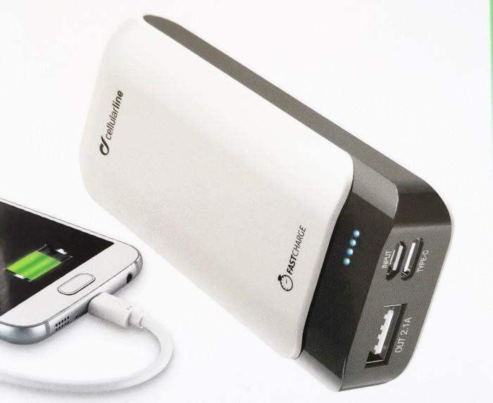 Cellularline PowerUp 5200 schwarz/weiß (FREEP5200USBCW) -- via Amazon Partnerprogramm