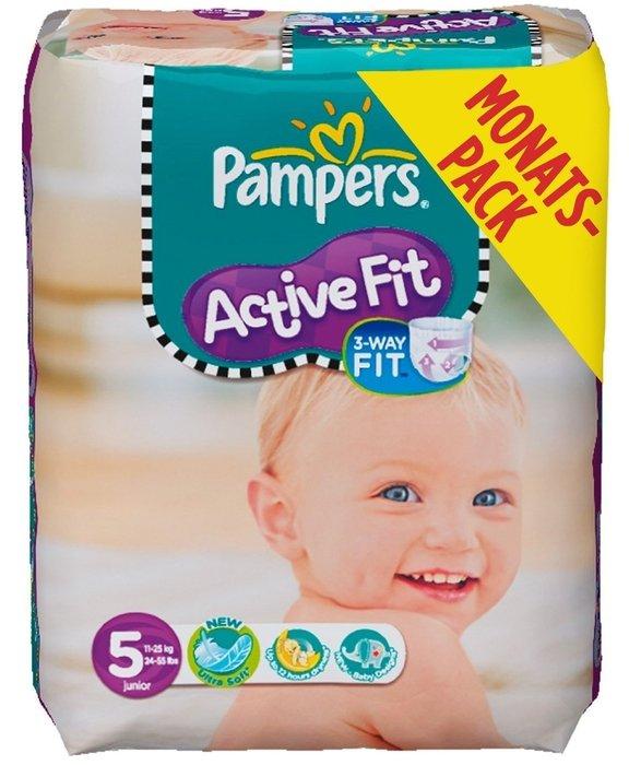 Pampers Active Fit Gr.5 Einwegwindel, 11-25kg, 136 Stück