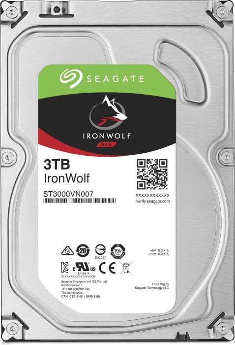 Seagate IronWolf NAS HDD 6TB Bundle, SATA 6Gb/s, 2x 3TB-Pack (ST3000VN007X2)