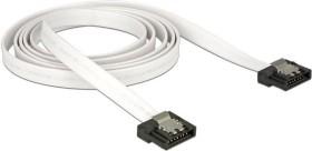 DeLOCK SATA 6Gb/s Kabel Flexi weiß 0.7m, gerade/gerade (83505)