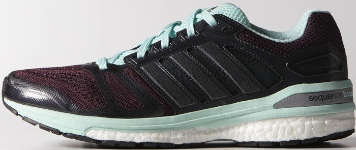 100% authentic 23232 d2fd5 adidas Supernova Sequence Boost rich red carbon metallic frost mint  (ladies) (