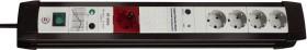 Brennenstuhl Premium-Line 30000A 5-way, Master-Slave function, black/grey, 3m (1156050955)