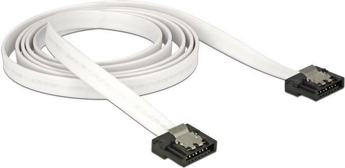 DeLOCK SATA 6Gb/s Kabel Flexi weiß 0.5m, gerade/gerade (83504)