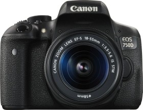 Canon EOS 750D schwarz mit Objektiv EF-S 18-55mm 3.5-5.6 IS STM Value-Up Kit (0592C096)