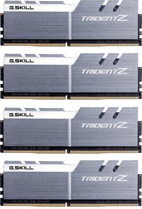 G.Skill Trident Z silber/weiß DIMM Kit 64GB, DDR4-3733, CL17-19-19-39 (F4-3733C17Q-64GTZSW)