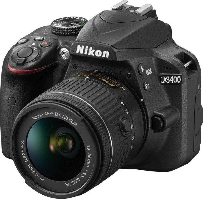 Nikon D3400 black with lens AF-P VR DX 18-55mm 3.5-5.6G (VBA490K001)