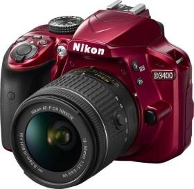 Nikon D3400 rot mit Objektiv AF-P VR DX 18-55mm 3.5-5.6G (VBA491K001)