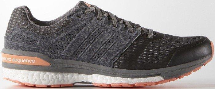 adidas Damen Supernova Sequence Boost 8 Laufschuhe, Grau (DGH Solid Grey/CH Solid Grey/Sun Glow S16), 36 EU