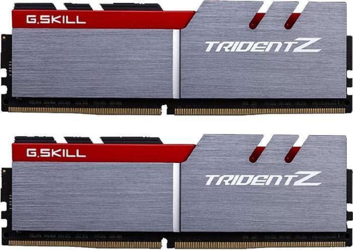G.Skill Trident Z silber/rot DIMM Kit 16GB, DDR4-3200, CL14-14-14-34 (F4-3200C14D-16GTZ)