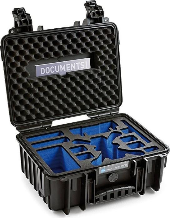 B&W International Outdoor Case Typ 3000 schwarz mit DJI Spark Fly More Combo Einsatz (3000/B/Spark)