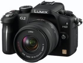 Panasonic Lumix DMC-G2 schwarz mit Objektiv Lumix G Vario 14-42mm 3.5-5.6 OIS (DMC-G2K)
