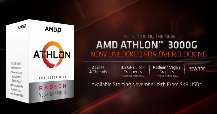AMD Athlon 3000G, 2C/4T, 3.50GHz, boxed (YD3000C6FHBOX) starting from £  44.16 (2020) | Skinflint Price Comparison UK