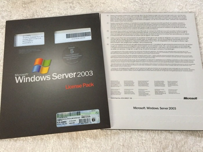 Microsoft: Windows 2003 TerminalServer, 5 User CAL (Zusatzlizenzen) (deutsch) (PC) (R19-00850) -- via Amazon Partnerprogramm