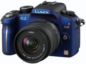 Panasonic Lumix DMC-G2 blau mit Objektiv Lumix G Vario 14-42mm 3.5-5.6 OIS (DMC-G2K)