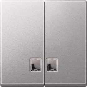 Merten System M Doppelwippe Thermoplast edelmatt, aluminium (437560)