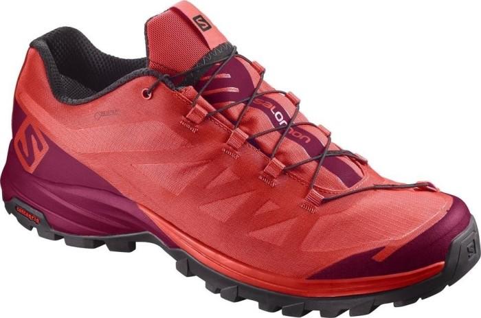 Salomon Damen Outpath GTX W Trekking-& Wanderhalbschuhe, Rot (Poppy Red/Sangria/Black 18), 39 1/3 EU