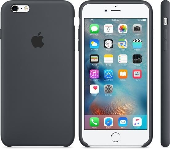 newest d93ed f3943 Apple silicone case for iPhone 6s Plus dark grey (MKXJ2ZM/A)