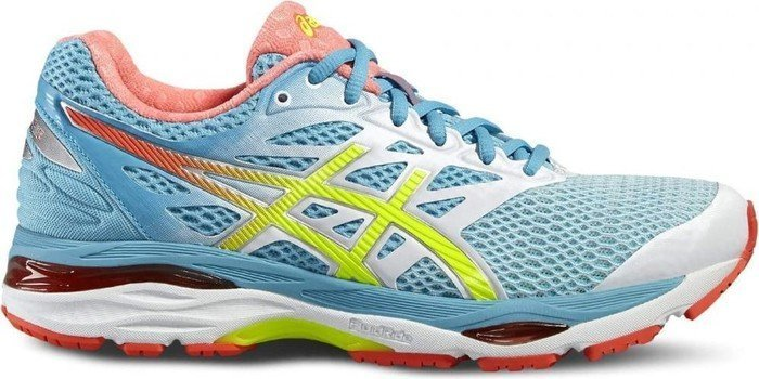 Asics Gel-Cumulus 18 white/safety yellow/blue atoll (Damen) (T6C8N-0107)