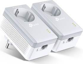 TP-Link Powerline AV500 Passthrough Starter Kit, HomePlug AV, RJ-45, 2er-Pack (TL-PA4010PKIT)