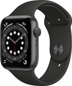 Bild Apple Watch Series 6 (GPS) 44mm Aluminium space grau mit Sportarmband schwarz (M00H3FD)