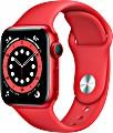 Apple Watch Series 6 (GPS) 40mm Aluminium rot mit Sportarmband rot (M00A3FD)