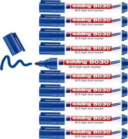 edding 8030 NLS Marker blau, 10er Pack (4-8030003-10)