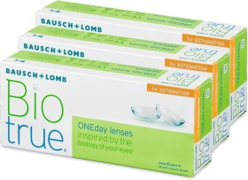 Bausch&Lomb Biotrue ONEday for Astigmatism, -0.25 Dioptrien, 90er-Pack