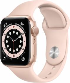 Bild Apple Watch Series 6 (GPS) 40mm Aluminium gold mit Sportarmband sandrosa (MG123FD)