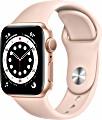 Apple Watch Series 6 (GPS) 40mm Aluminium gold mit Sportarmband sandrosa (MG123FD)