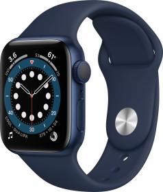Apple Watch Series 6 (GPS) 40mm Aluminium blau mit Sportarmband dunkelmarine (MG143FD)