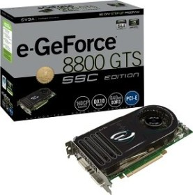 EVGA e-GeForce 8800 GTS SSC, 112 Shader, 640MB DDR3 (640-P2-E829-AR)