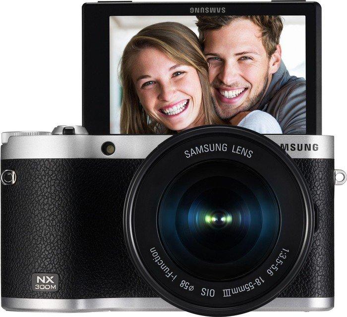 Samsung NX300M schwarz mit Objektiv NX 18-55mm OIS III i-Function