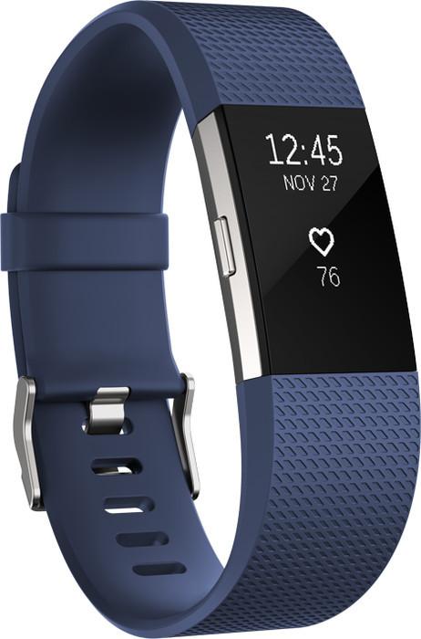 Fitbit Charge 2 Large Aktivitäts-Tracker marineblau (FB407SBUL)