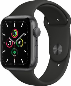 Apple Watch SE (GPS) 44mm space grau mit Sportarmband schwarz (MYDT2FD)