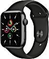 Apple Watch SE (GPS) 44mm space grau mit Sportarmband schwarz (MYDT2FD)
