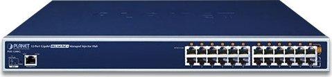 Planet POE-1200G Rackmount Gigabit Managed PoE-Injektor, 12x RJ-45, 220W PoE+ (POE-1200G)