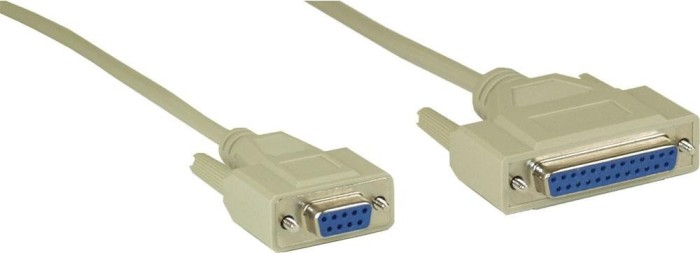 InLine null modem cable 9-pin on 25-pin, 2m (12122)