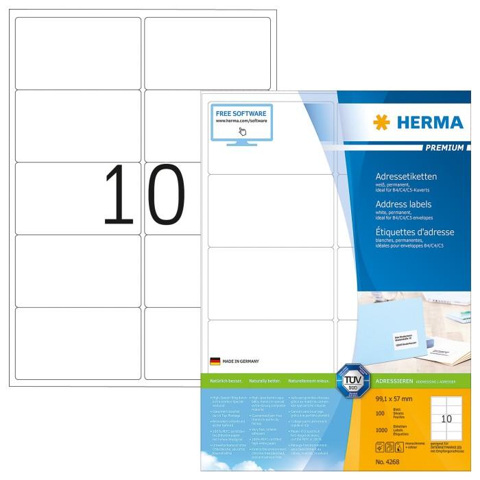 Herma 4268 Adressetiketten Premium -- via Amazon Partnerprogramm