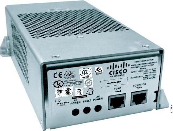 Cisco Aironet PoE-Injektor, 1x RJ-45, PoE+ (AIR-PWRINJ1500-2=)