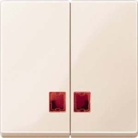 Merten System M Doppelwippe rotem Symbolfenster Thermoplast brillant, weiß (MEG3456-0344)