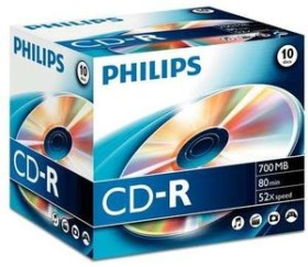 Philips CD-R 80min/700MB, 10 pieces-Jewelcase (CR7D5NJ10)