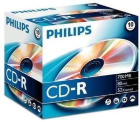 Philips CD-R 80min/700MB, 10er Jewelcase (CR7D5NJ10)