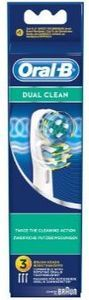 Braun Oral-B brush heads Dual Clean, 3-pack (EB 417-X3)