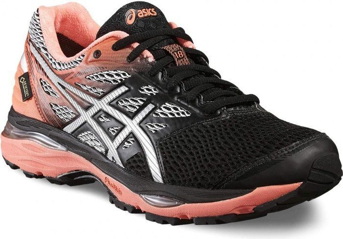 Asics Gel-Cumulus 18 GTX black/silver/flash coral (Damen) (T6D8N-9006)