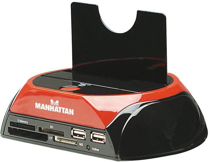 Manhattan Multi Funktions SATA Quick Dock, USB 2.0/eSATA (130004)