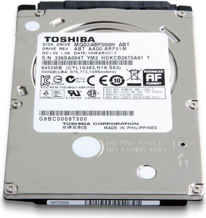 Toshiba Solid State Hybrid Drive MQ02 Series 500GB, SATA 6Gb/s (PX3011E-1HE0/MQ02ABF050H)