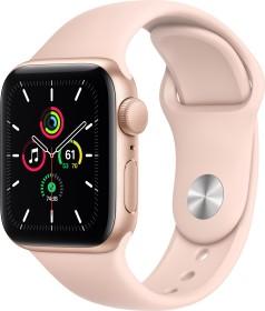 Apple Watch SE (GPS) 40mm gold mit Sportarmband sandrosa (MYDN2FD)