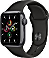 Apple Watch SE (GPS) 40mm space grau mit Sportarmband schwarz (MYDP2FD)
