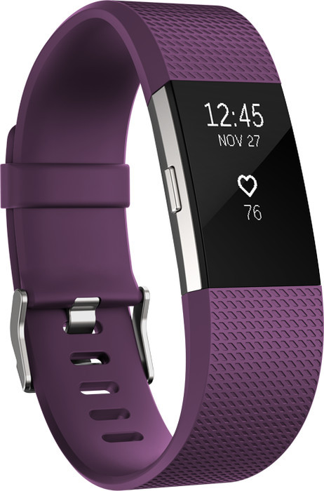 Fitbit Charge 2 Large Aktivitäts-Tracker violett (FB407SPML)